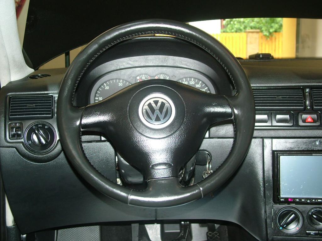 After-Renovace koženoho volantu Golf IV